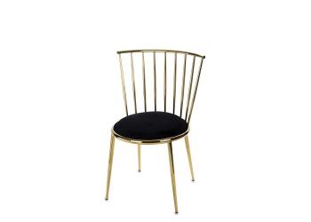Krzesło złote metalowe