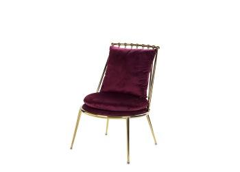 Krzesło złote metalowe z poduszką