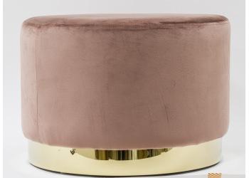 Pufka z metalową obręczą