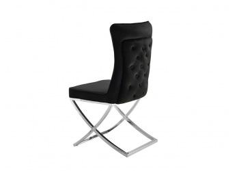 Krzesło srebrne glamour krzyżak